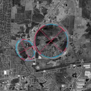 Aerial detection of Fermilab accelerator