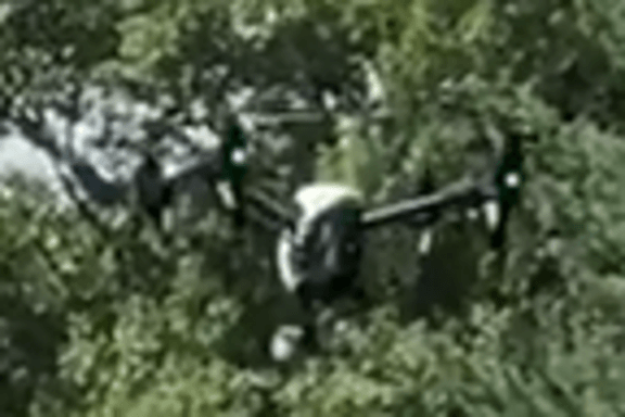 Drone hidden in trees
